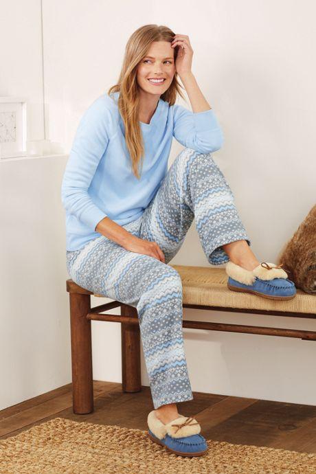 02c30078c Women s Long Sleeve Fleece Pajama Set Women s Long Sleeve Fleece Pajama Set
