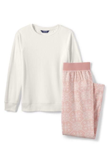 Women's Long Sleeve Fleece Pajama Set