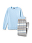 Fleece Pyjama-Set mit gemusterter Hose