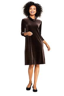Women's Velvet Cowl Neck Dress
