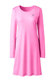 Women's Plus Size Knee Length Supima Cotton Nightgown Long Sleeve