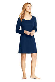 Women's Supima Cotton Long Sleeve Knee Length Nightgown