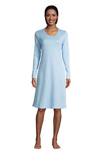 Women's Supima Cotton Long Sleeve Knee Length Nightgown , Front