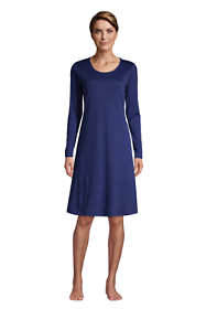 Women's Supima Cotton Long Sleeve Knee Length Nightgown