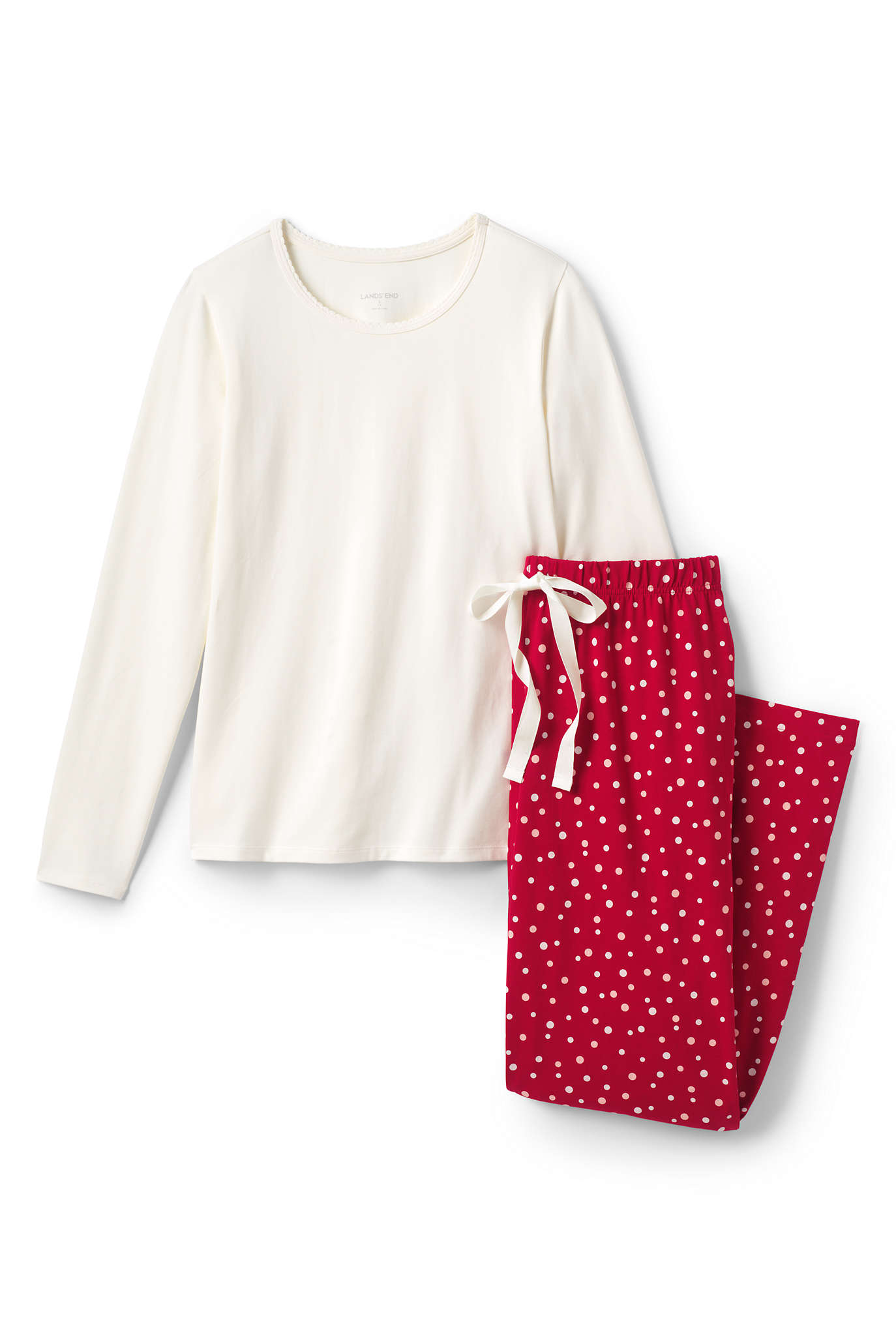 Women's Knit Flannel Pajama Set