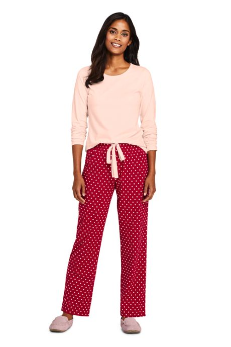 Women's Knit Pajama Set Long Sleeve T-Shirt and Pants