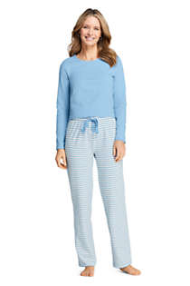 Women's Knit Pajama Set Long Sleeve T-Shirt and Pants, Unknown