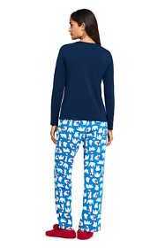 Women's Tall Long Sleeve Print Knit Pajama Set
