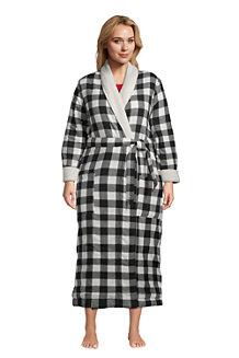 Women's Flannel Robe with Sherpa Fleece Lining