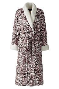 Women s Flannel Sherpa Lined Long Robe e965571bfa