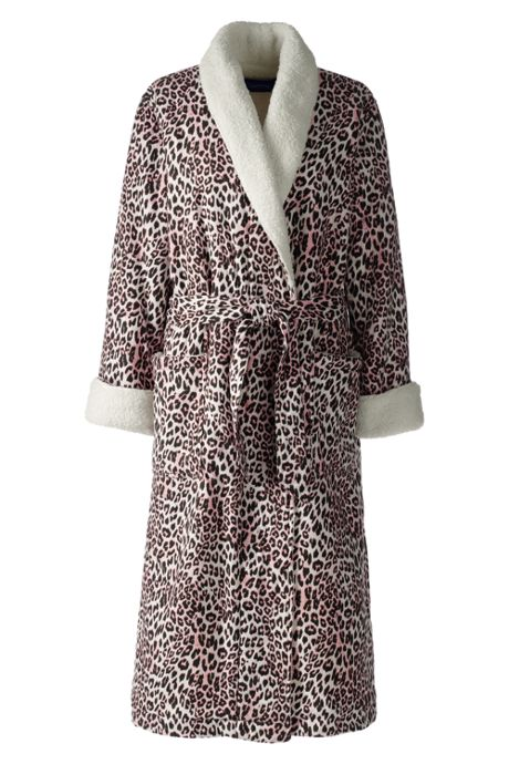 Women's Flannel Sherpa Lined Long Robe