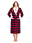Women's Petite Flannel Robe with Sherpa Fleece Lining