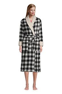 La Robe de Chambre en Flanelle à Carreaux Doublée de Polaire Sherpa, Femme