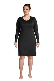Women's Plus Size Supima Cotton Long Sleeve Knee Length Nightgown