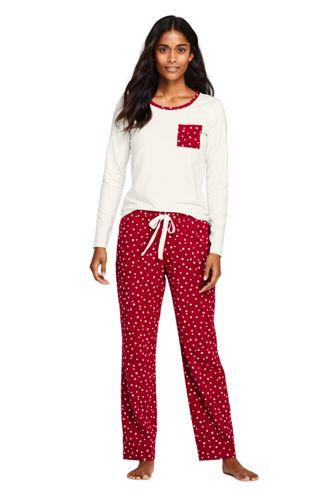 Le Pyjama 2 Pièces Imprimé en Coton Stretch, Femme Stature Standard