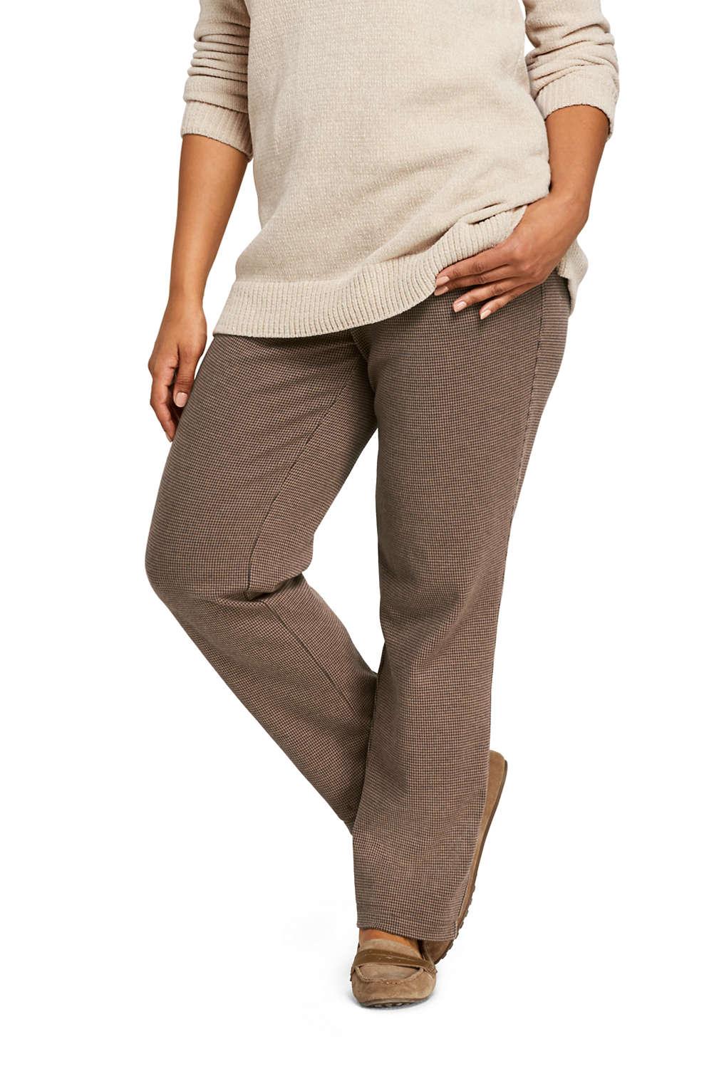 1a5bceb3a29 Women s Plus Size Sport Knit Elastic Waist Pants High Rise Jacquard from  Lands  End