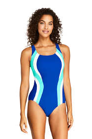 Women's Chlorine Resistant Square Neck One Piece Swimsuit