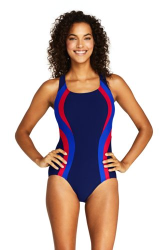Womens Chlorine Resistant Square Neck One Piece Swimsuit From Lands