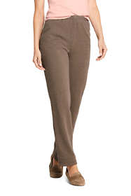 Women's Sport Knit Elastic Waist Pants High Rise Jacquard