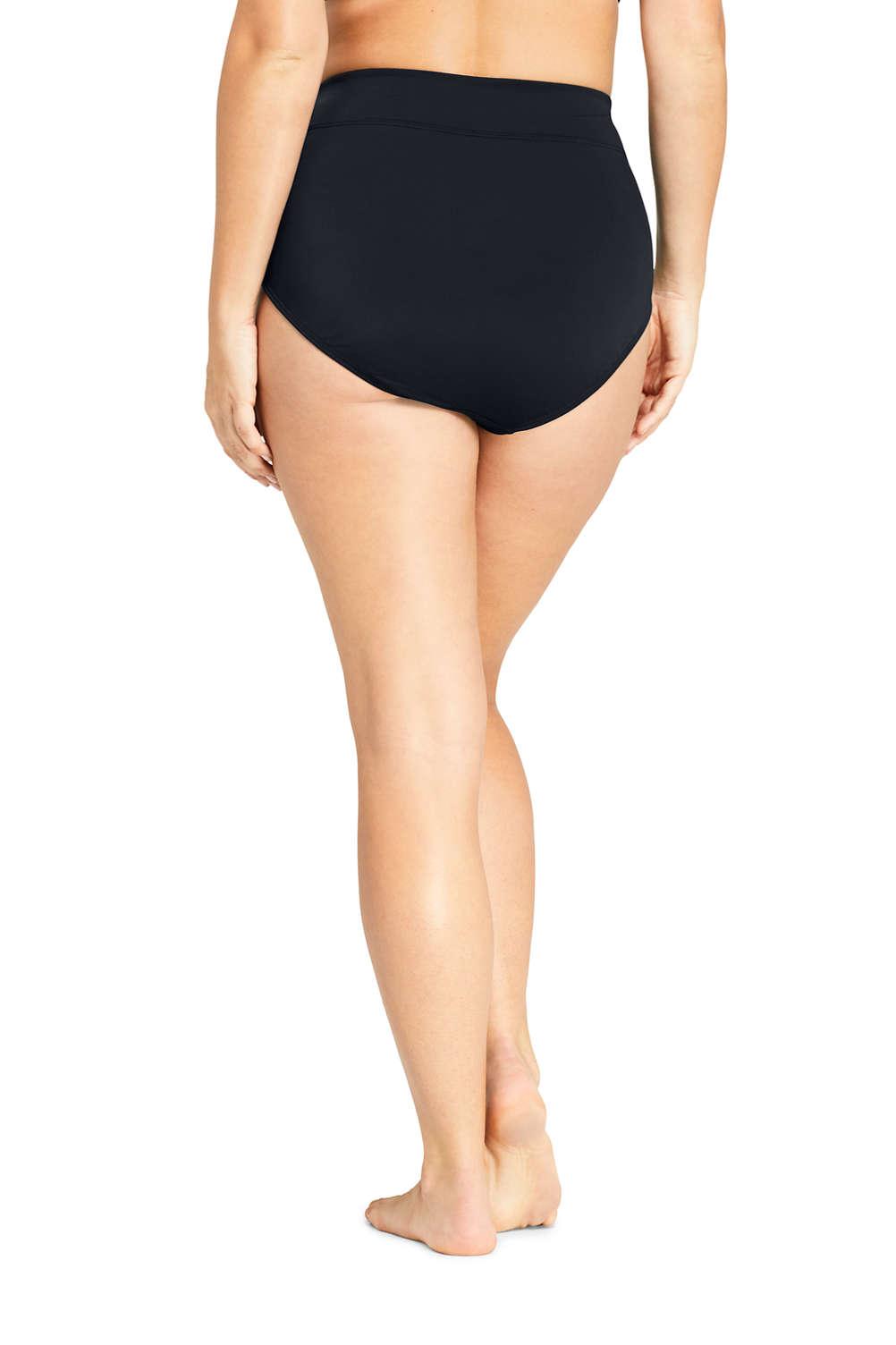 eca7593980 Women s Chlorine Resistant Plus Size High Waisted Bikini Bottoms ...