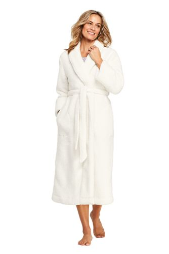 Lands End Womens Sherpa Fleece Long Robe