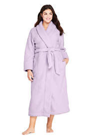 Women's Plus Size Sherpa Fleece Long Robe