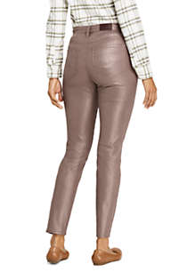 Women's High Rise Slim Straight Leg Ankle Jeans Shimmer Foil, Back