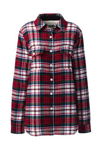 Women s Sherpa Lined Flannel Shirt  927ba3ee2af