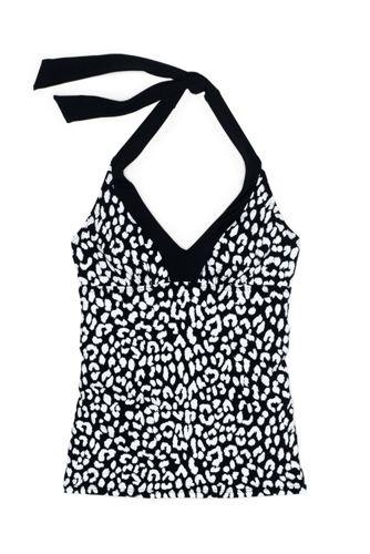 Women's V-neck Halter Tankini Top Swimsuit Print