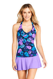 Women's V-neck Halter Tankini Top Swimsuit Print