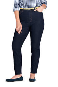 Women's Plus Size High Rise Slim Leg Ankle Jeans