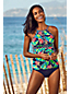 Tankini Beach Living Col Keyhole à Motifs, Femme Stature Standard