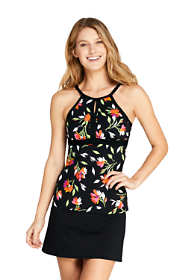 Women's Petite Keyhole Tankini Top Swimsuit Print