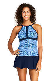 Women's Keyhole Tankini Top Swimsuit Print
