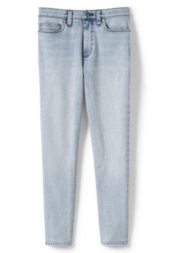Taillenhohe knöchellange Slim Jeans in Indigo für Damen in Plus-Größe