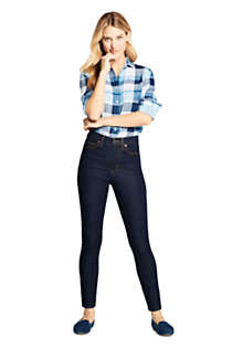 Women's High Rise Straight Leg Ankle Jeans - Blue, Unknown