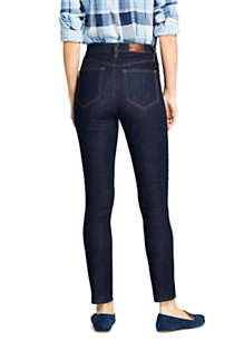 Women's High Rise Straight Leg Ankle Jeans - Blue, Back