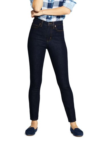 Slim Fit Jeans High Waist in Indigo für Damen in Petite-Größe