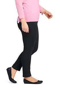 Women's Plus Size High Rise Slim Straight Leg Ankle Twill Jeans - Black, alternative image