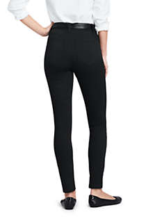 Women's Tall High Rise Slim Straight Leg Ankle Twill Jeans - Black, Back