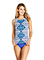 Women's Beach Living High Neck Tankini Top, Print