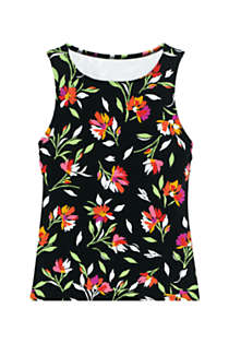 Women's High-neck Tankini Top Swimsuit Print, Front