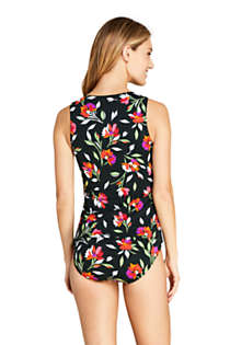 Women's High-neck Tankini Top Swimsuit Print, Back