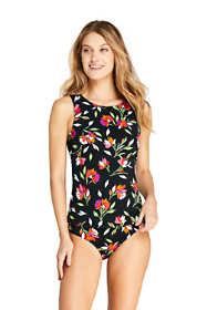 Women's Petite High-neck Tankini Top Swimsuit Print