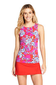 Women's High-neck Tankini Top Swimsuit Print