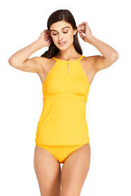 Women's Keyhole High-neck Tankini Top Swimsuit