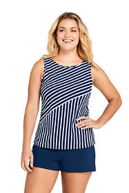 Women's Plus Size DDD-Cup High-neck Tankini Top Swimsuit Print