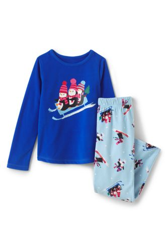 Girls' Graphic Fleece Sleep Set