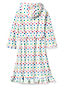 Girls' Dotty Ruffle Hem Fleece Robe