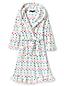 Gemusterter Fleece-Bademantel mit Rüschensaum für Mädchen